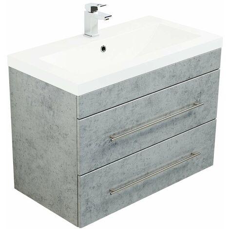 Mueble de baño Infinity 850 Gris hormigón