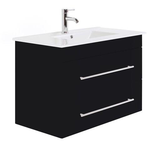 Mueble de baño Infinity 900 Negro satinado