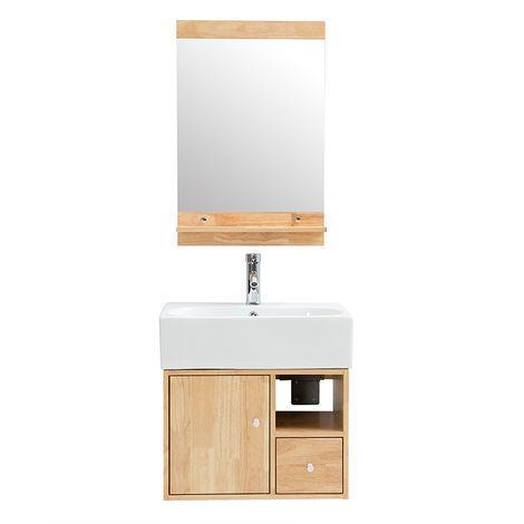 Mueble de baño : lavabo, mueble de lavabo y espejo EVAN