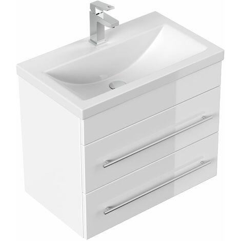 Mueble de baño Mars 600 SlimLine Blanco brillante