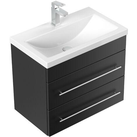 Mueble de baño Mars 600 SlimLine Negro satinado
