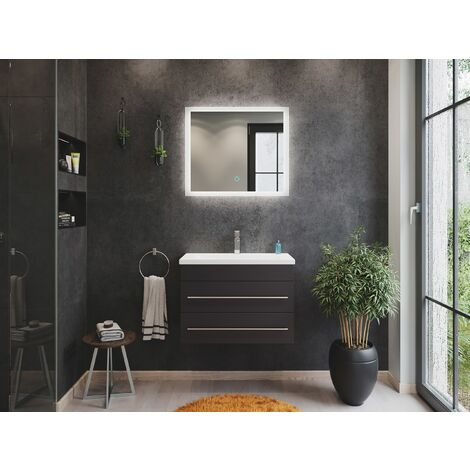 Mueble de baño Mars 700 SlimLine 2 partes Espejo - LED Antracita satinado
