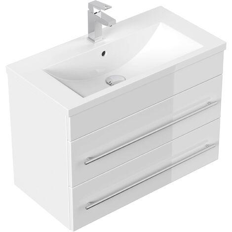 Mueble de baño Mars 700 SlimLine Blanco brillante