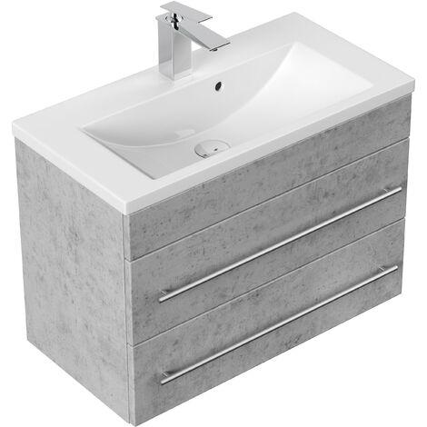 Mueble de baño Mars 700 SlimLine Gris hormigón