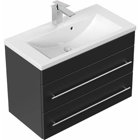 Mueble de baño Mars 700 SlimLine Negro satinado