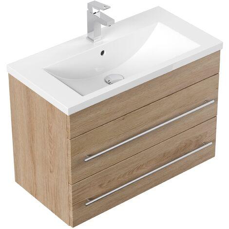 Mueble de baño Mars 700 SlimLine Roble claro