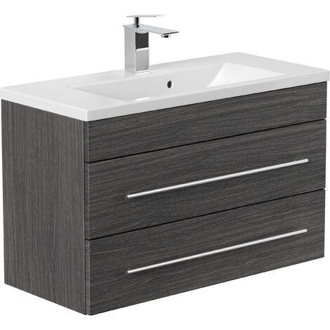 Mueble de baño Mars 800 SlimLine Antracita vetado
