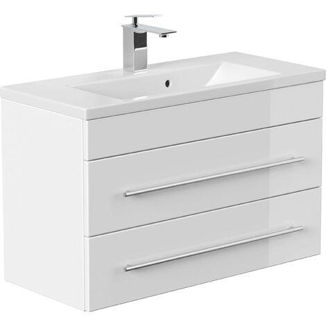 Mueble de baño Mars 800 SlimLine Blanco brillante