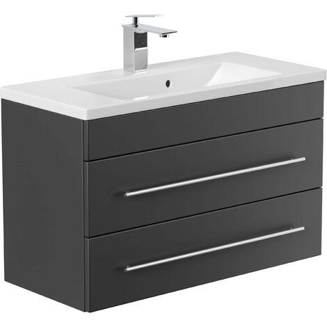 Mueble de baño Mars 800 SlimLine Negro satinado