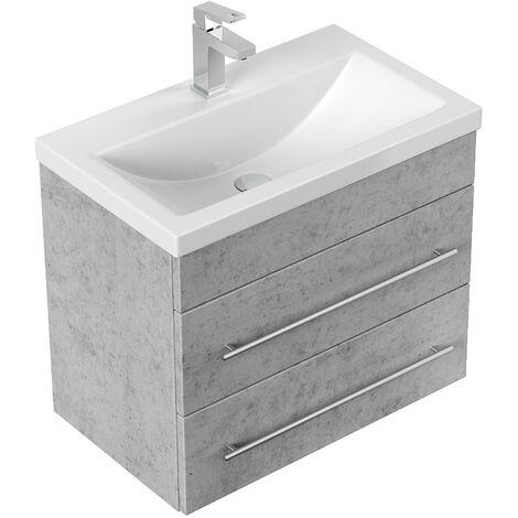 Mueble de baño Mars SlimLine 600 Gris hormigón