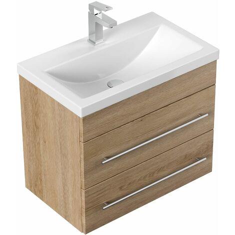 Mueble de baño Mars SlimLine 600 Roble claro