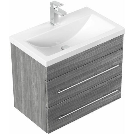 Mueble de baño Mars SlimLine 600 Roble plateado