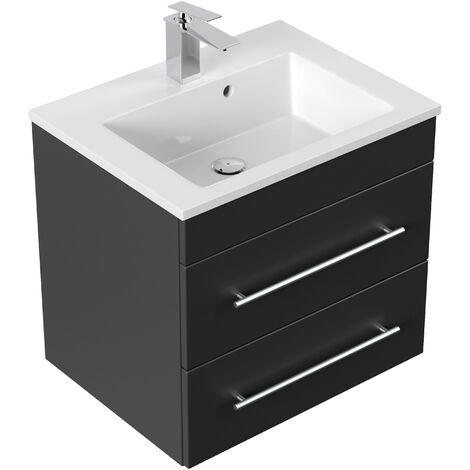 Mueble de baño Milet Negro satinado