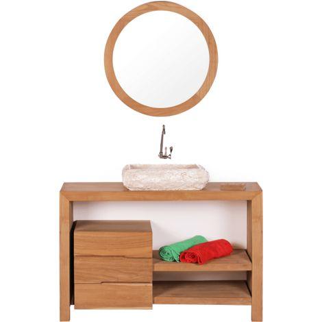 Mueble de baño montado lavabo simple 120cm GLAVA de madera maciza