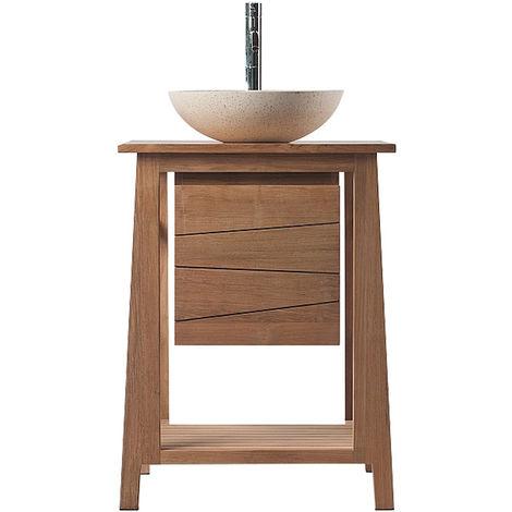 Mueble de baño: mueble teca (lavabo no incluido) ALIOH