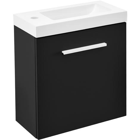 Mueble de baño negro con lavabo - Modelo 1
