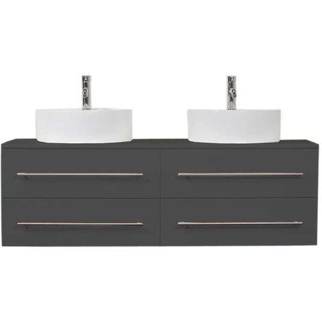 Mueble de baño Novum XL Antracita satinado con lavabo