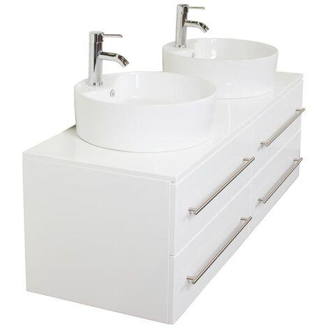 Mueble de baño Novum XL Blanco brillante con lavabo