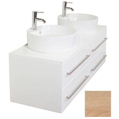 Mueble de baño Novum XL Roble claro con lavabo