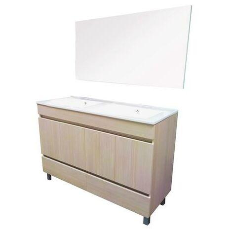 Mueble de bano para apoyar LANCELO 80 blanco Dimensiones : 81x46x83 cm- Aqua+