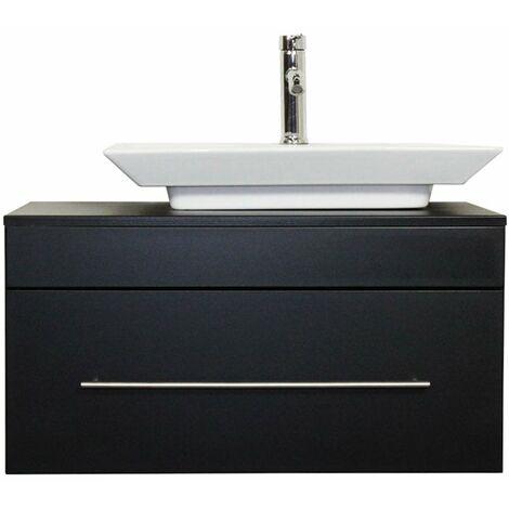 Mueble de baño Pegasus Negro satinado con lavabo