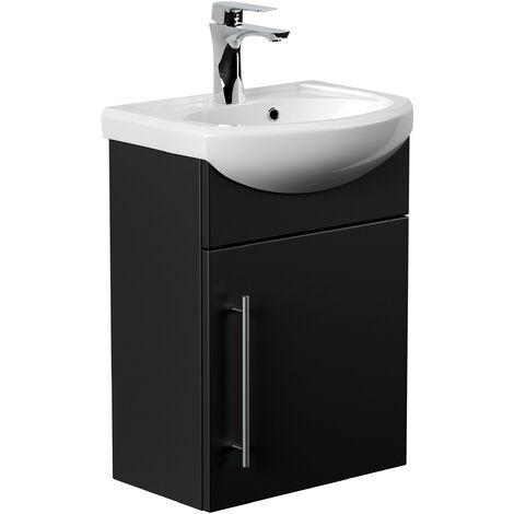 Mueble de baño Primus Negro satinado