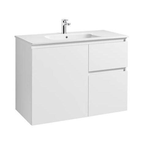Mueble de baño Roca Anima Unik con lavabo 1000x460x724mm Blanco Brillo