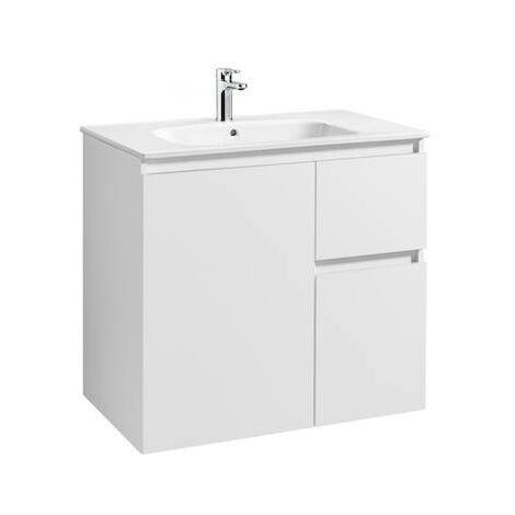 Mueble de baño Roca Anima Unik con lavabo 800x460x724mm Blanco Brillo