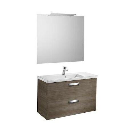 Mueble de baño Roca con lavabo, espejo y aplique Delight The Gap 1000x440x645mm