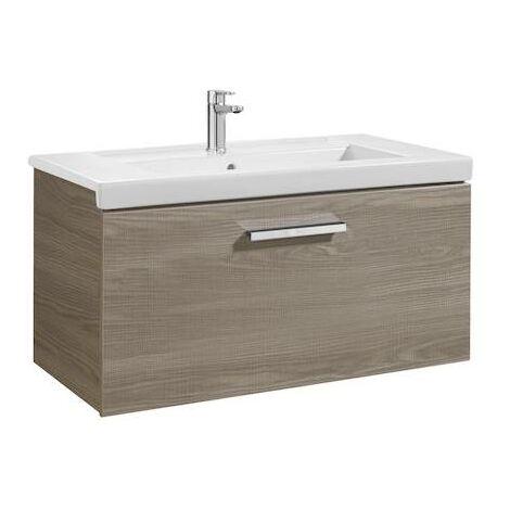 Mueble de baño Roca Prisma con lavabo 800x460x450mm Fresno