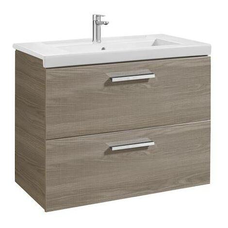 Mueble de baño Roca Prisma Unik con lavabo 800x460x694mm Fresno
