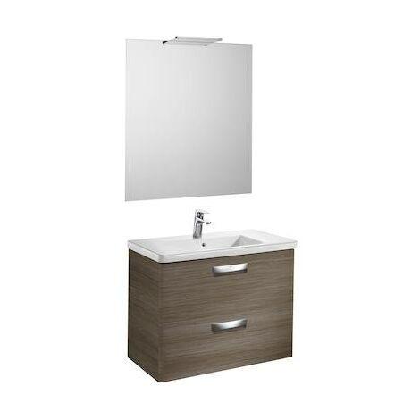 Mueble de baño Roca The Gap Original con lavabo, espejo y aplique Delight 800x440x645mm Mood Teka
