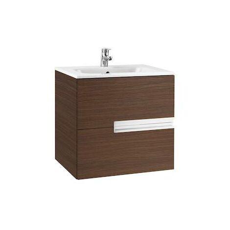 Mueble de baño Roca Victoria-N con lavabo 600x460x565mm Wenge Texturizado