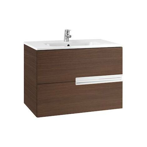 Mueble de baño Roca Victoria-N Unik con lavabo 800x460x565mm Wenge Texturizado