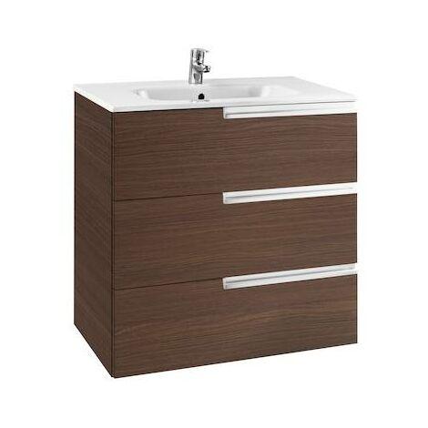 Mueble de baño Roca Victoria-N Unik Familiy con lavabo 800x460x740mm Wenge Texturizado