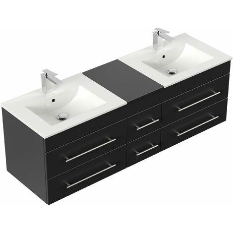 Mueble de baño Roma XL Negro satinado
