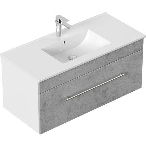 Mueble de baño SANTINI 100 Gris hormigón