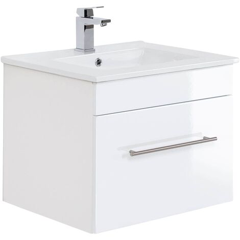 Mueble de baño SANTINI 60 Blanco, frentes blancos brillo