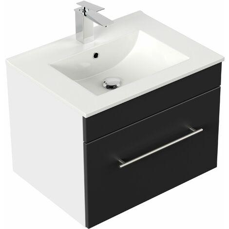 Mueble de baño SANTINI 60 Negro satinado
