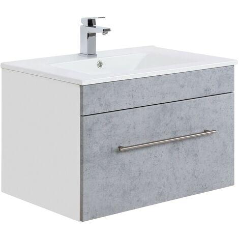 Mueble de baño SANTINI 75 Gris hormigón