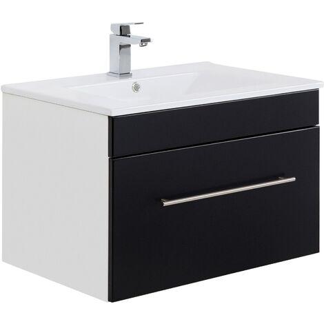 Mueble de baño SANTINI 75 Negro satinado