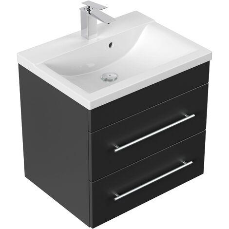 Mueble de baño SIA Negro satinado