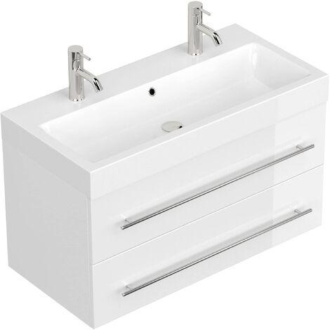 Mueble de baño Sunrise Blanco brillante