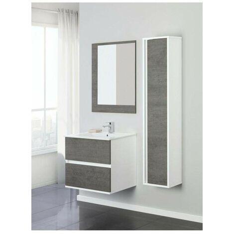 Mueble de baño suspendido 60 cm Feridras fabula 801007   Hormigón