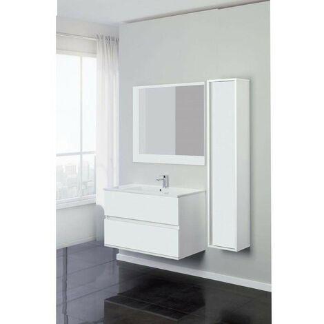 Mueble de baño suspendido 90 cm en color blanco Feridras Fabula 801023 | Blanco