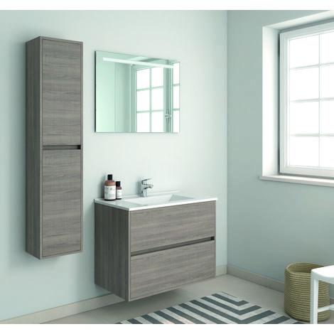 Mueble de baño Suspendido con Lavabo de Porcelana - con 1 Cajón - El Mueble va MONTADO - Modelo SADO