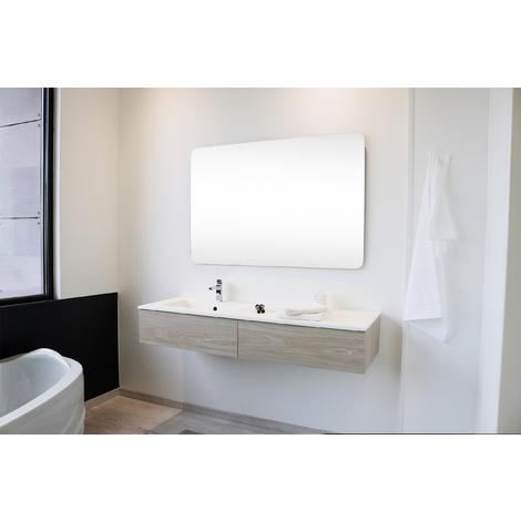 Mueble de bano suspendido FINN 90 Dimensiones : 90,5x46x23 cm - Aqua +