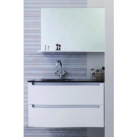 Mueble de bano suspendido ITALO 90 blanco Dimensiones : 91X46x58 cm- Aqua+
