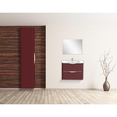 Mueble de bano suspendido JAPHAR 70 Morado Dimensiones : 71x46x55 cm - Aqua +