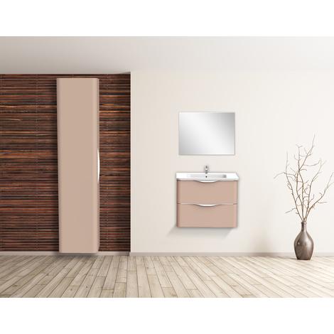 Mueble de bano suspendido JAPHAR 70 Nude Dimensiones : 71x46x55 cm - Aqua +